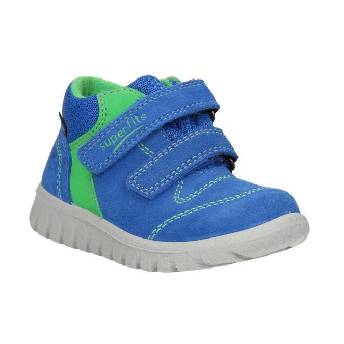 Kožená dětská obuv na suché zipy superfit, modrá, 113-9036 - 13