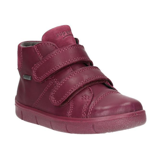 Kotníčková kožená dětská obuv superfit, červená, 124-5037 - 13