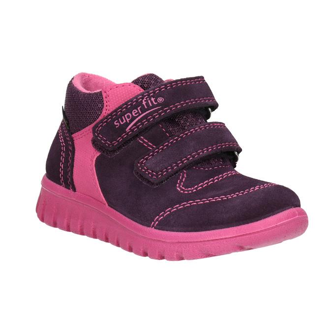 Kožená dětská kotníčková obuv superfit, fialová, 123-5036 - 13