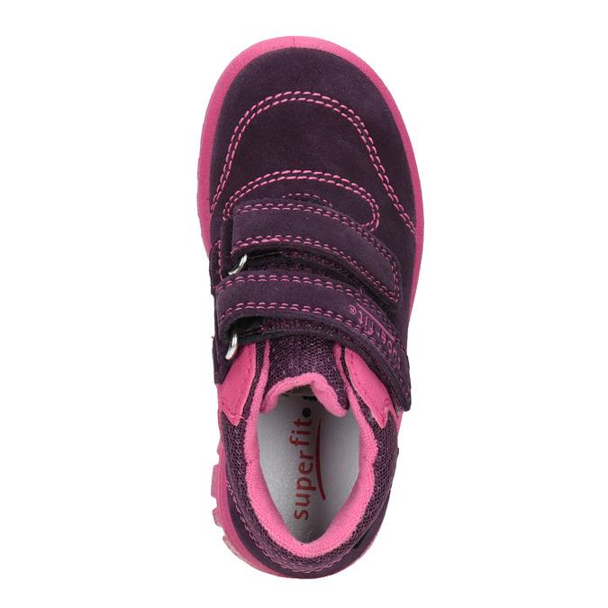 Kožená dětská kotníčková obuv superfit, fialová, 123-5036 - 15