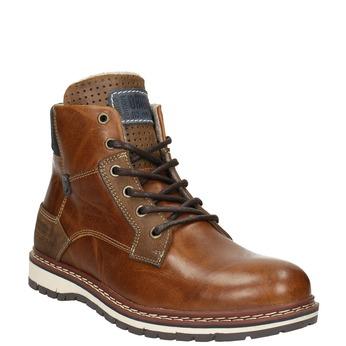 Pánská kožená obuv hnědá bata, hnědá, 896-3666 - 13