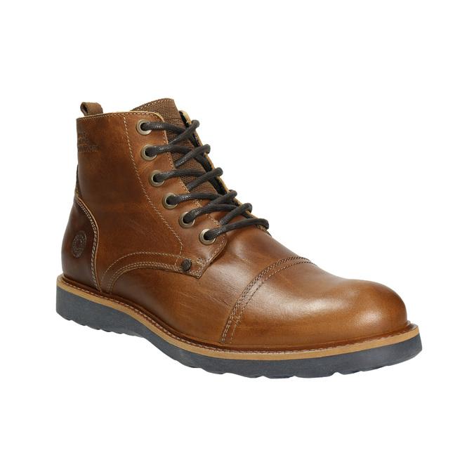 Hnědá kožená zimní obuv bata, hnědá, 896-4667 - 13