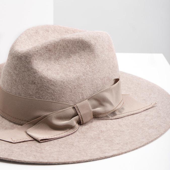Dámský vlněný klobouk tonak, béžová, 909-8651 - 14