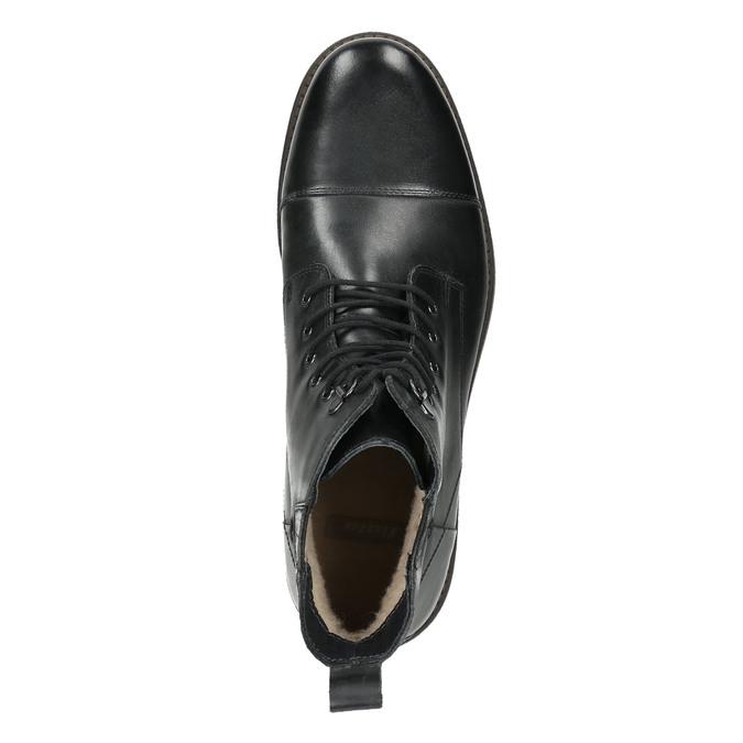 Kožená kotníčková obuv se zateplením bata, černá, 896-6662 - 26