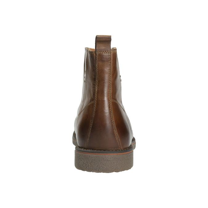Kožená kotníčková obuv se zateplením bata, hnědá, 896-4662 - 17