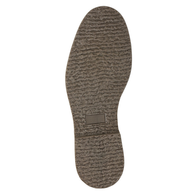 Kožená kotníková obuv se zateplením bata, černá, 896-6662 - 19