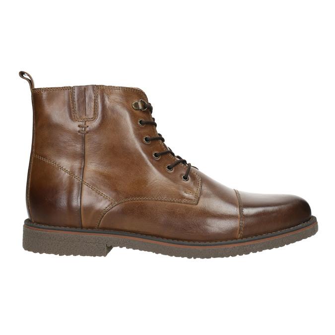 Kožená kotníčková obuv se zateplením bata, hnědá, 896-4662 - 15