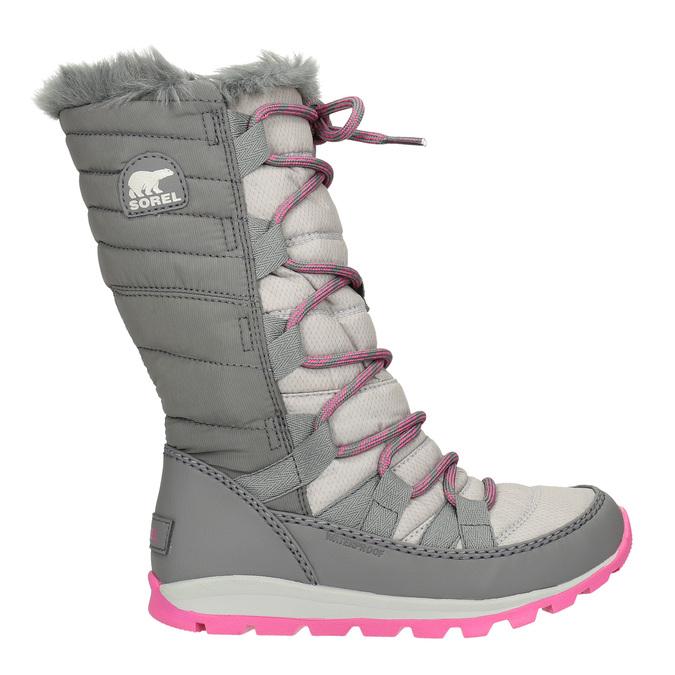Dívčí šedé sněhule sorel, šedá, 399-2026 - 26