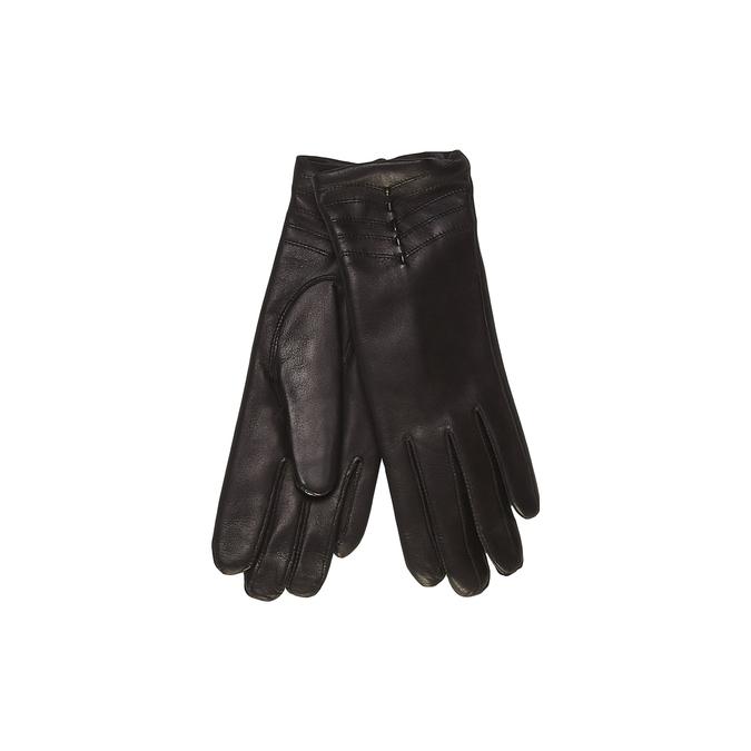Dámské kožené rukavice junek, černá, 924-6022 - 13