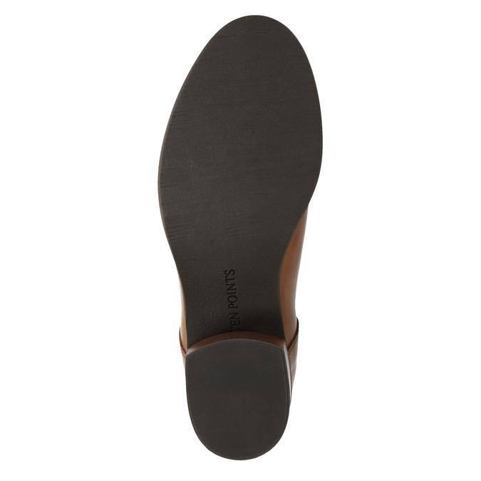Kožená kotníčková obuv  v Chelsea stylu ten-points, hnědá, 716-3046 - 17