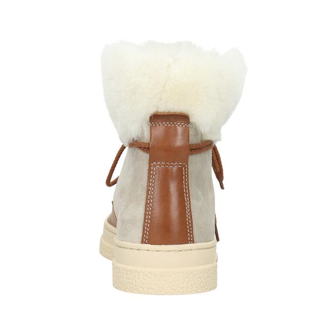 Dámská zimní obuv s kožíškem gant, béžová, 526-8051 - 17