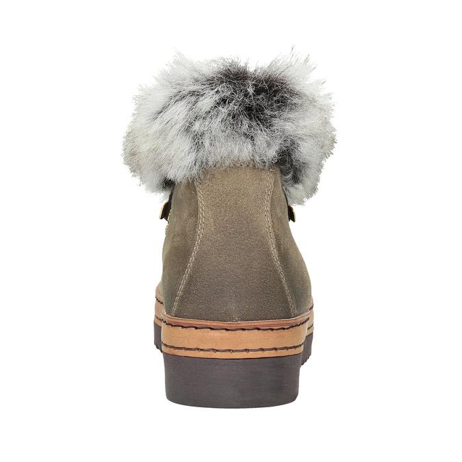 Dámská zimní obuv s kožíškem bata, hnědá, 596-3675 - 16