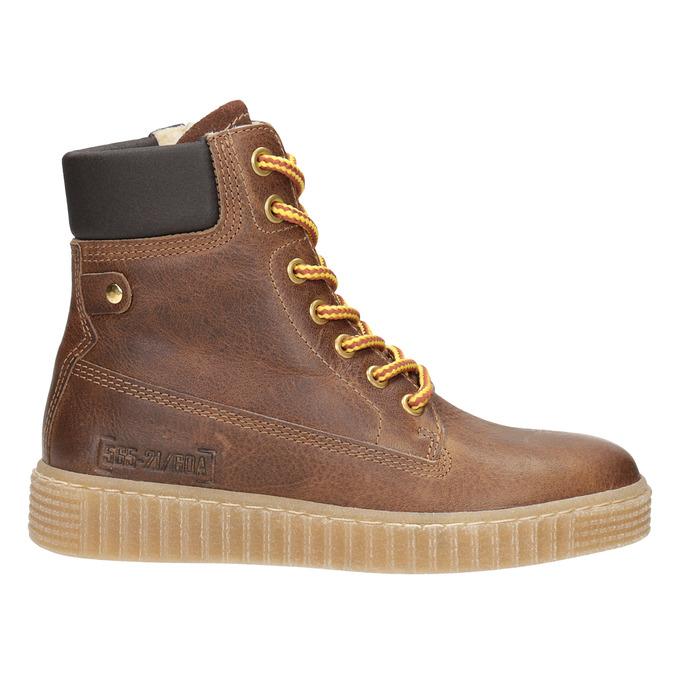 Hnědá dětská zimní obuv mini-b, hnědá, 496-4620 - 26