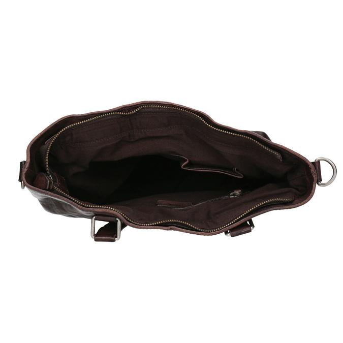 Hnědá kožená kabelka bata, hnědá, 964-4245 - 15