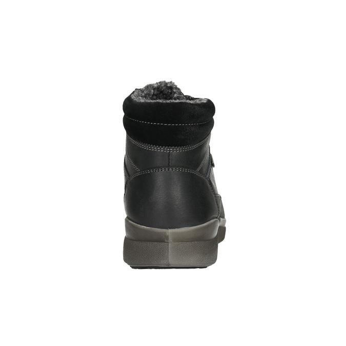 Pánská kožená zimní obuv bata, černá, 896-6672 - 17
