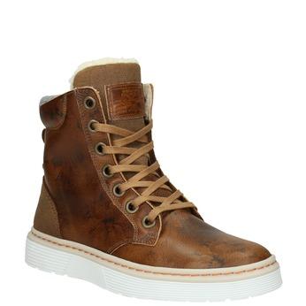 Kožená dámská zimní obuv bata, hnědá, 596-4684 - 13