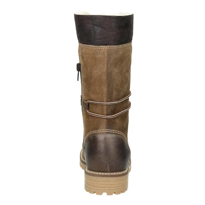 Dámská zimní obuv s kožíškem weinbrenner, hnědá, 593-8476 - 16