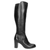 Kožené kozačky na podpatku bata, černá, 794-6648 - 15