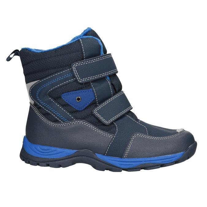 Dětská zimní obuv na suché zipy mini-b, modrá, 491-9653 - 26