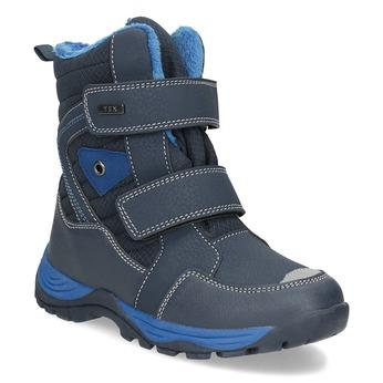 Dětská zimní obuv na suché zipy mini-b, modrá, 491-9653 - 13