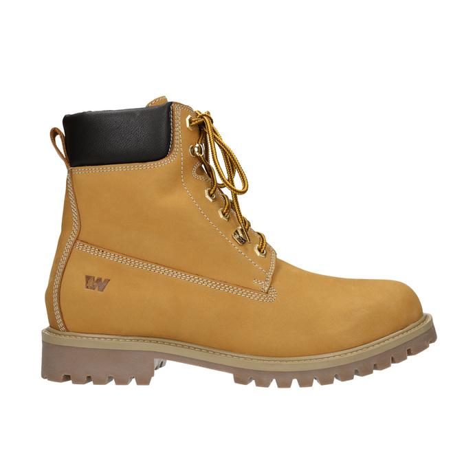 Kožená kotníčková obuv weinbrenner, žlutá, 896-8669 - 26