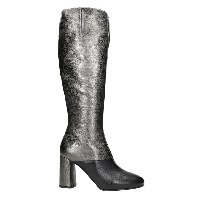 Kožené dámské kozačky classico-and-bellezza, stříbrná, 796-8027 - 26