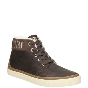 Pánská zimní obuv s kožíškem napapijri, hnědá, 896-4042 - 13