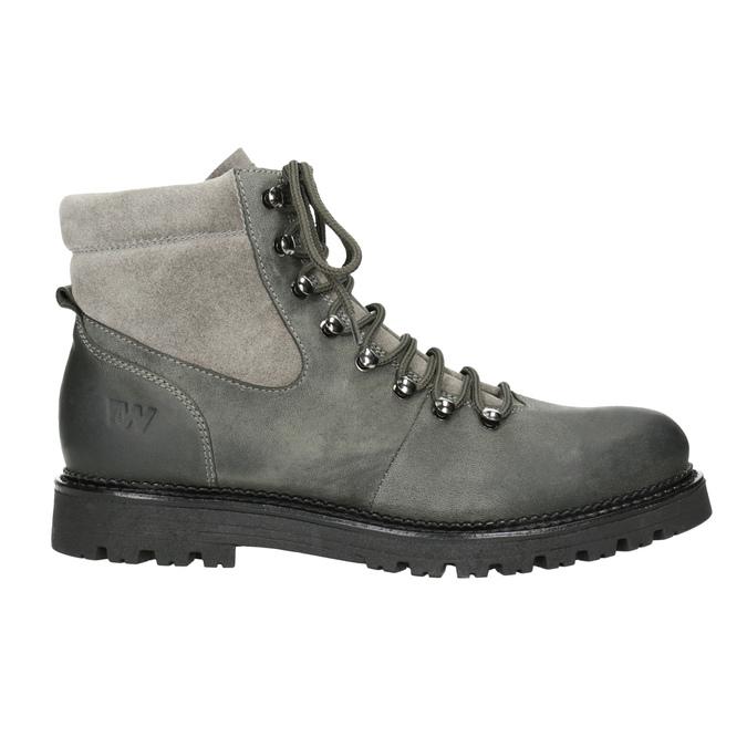 Kotníčková dámská kožená obuv weinbrenner, šedá, 596-2672 - 26