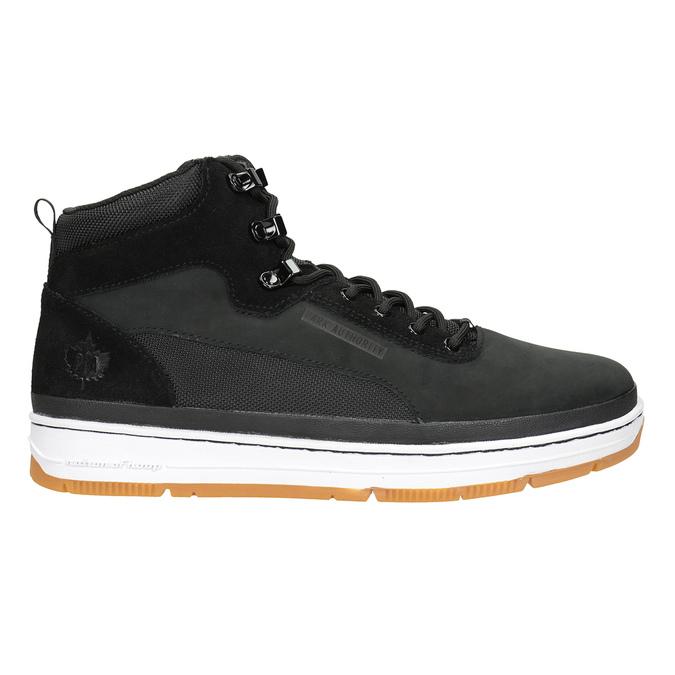 Kožená kotníčková pánská obuv k1x, černá, 806-6552 - 26