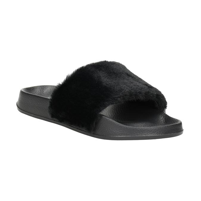Dámské černé pantofle north-star, černá, 579-6624 - 13