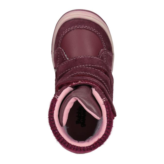 Kožená dětská zimní obuv bubblegummers, červená, 124-5602 - 15