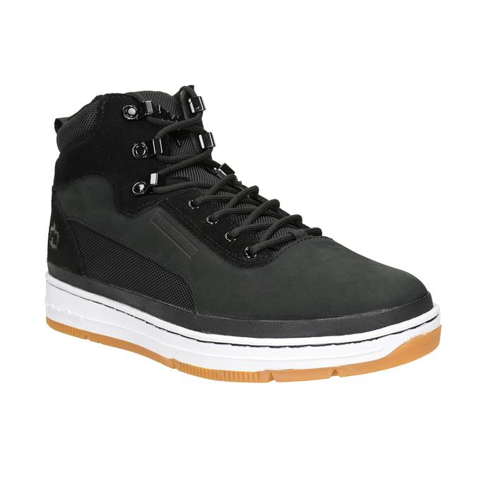 Kožená kotníčková pánská obuv k1x, černá, 806-6552 - 13