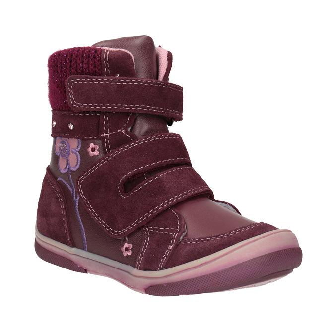 Kožená dětská zimní obuv bubblegummers, červená, 124-5602 - 13