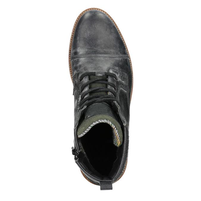 Kožená pánská kotníčková obuv bata, šedá, 896-2669 - 15