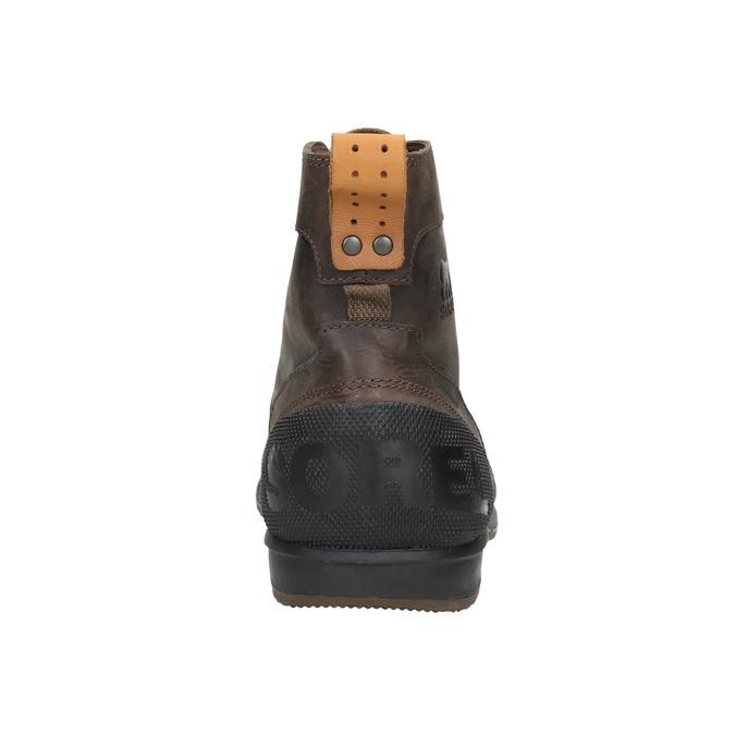 Pánská kožená zimní obuv sorel, hnědá, 826-4067 - 16