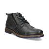 Pánská kožená kotníčková obuv se zipem bata, šedá, 896-2678 - 13