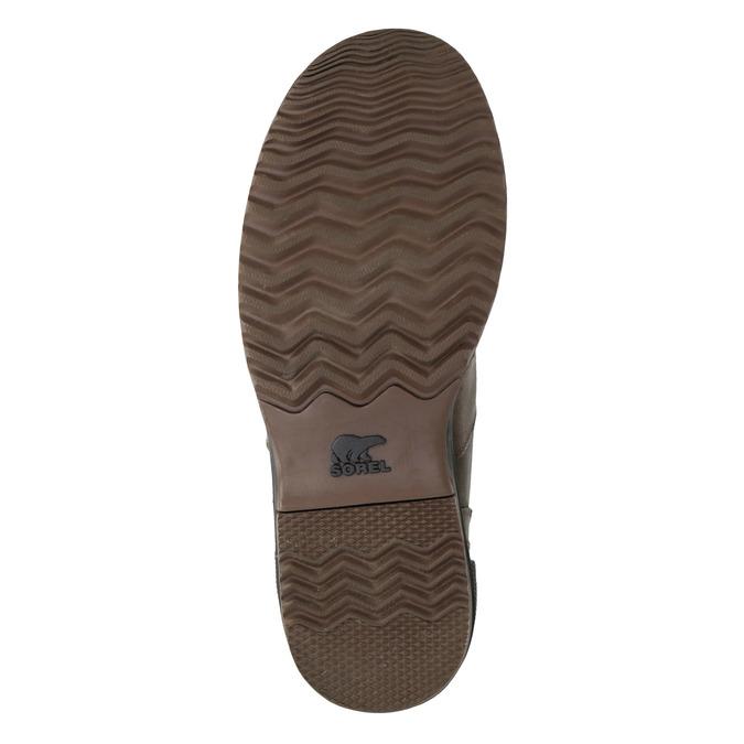 Pánská kožená zimní obuv sorel, hnědá, 826-4067 - 17