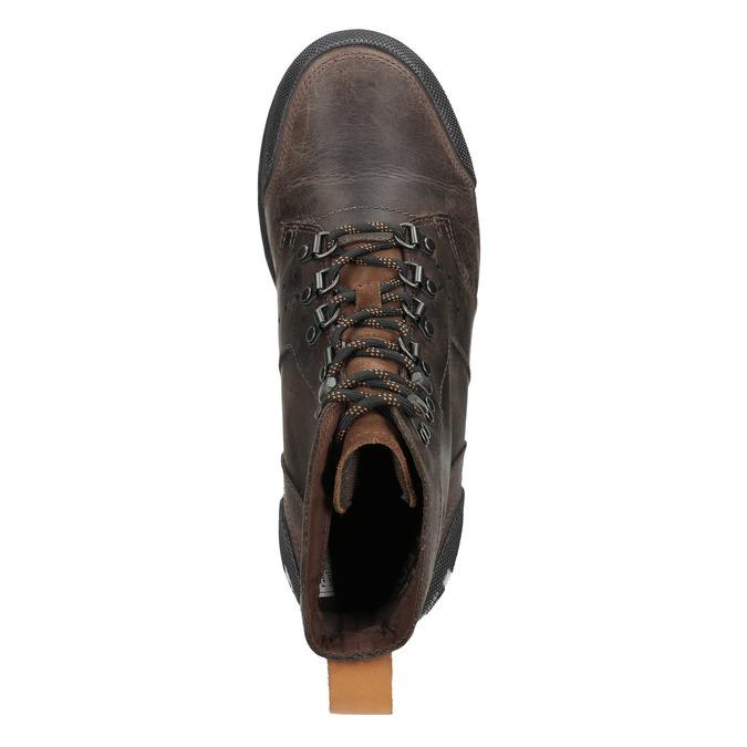 Pánská kožená zimní obuv sorel, hnědá, 826-4067 - 15
