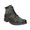 Kožená obuv s modrými detaily bata, šedá, 896-2679 - 13