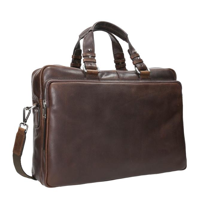 Pánská kožená taška bata, hnědá, 964-4112 - 13