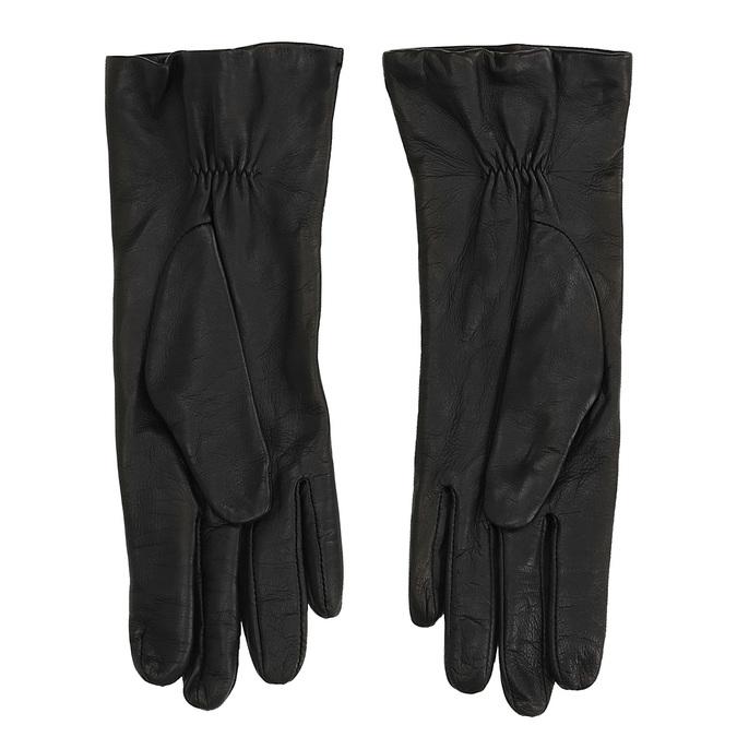Kožené rukavice junek, černá, 924-6014 - 16
