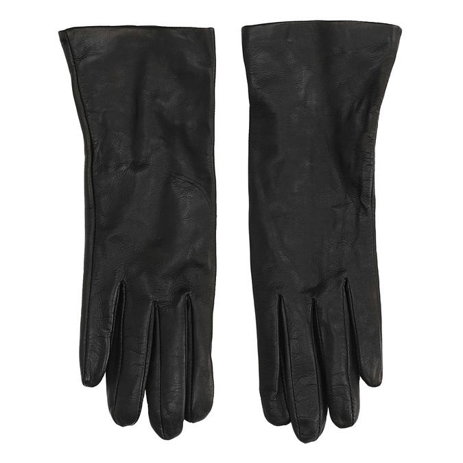 Kožené rukavice junek, černá, 924-6014 - 26