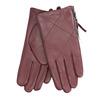 Vínové kožené rukavice se zipem bata, červená, 904-5108 - 13