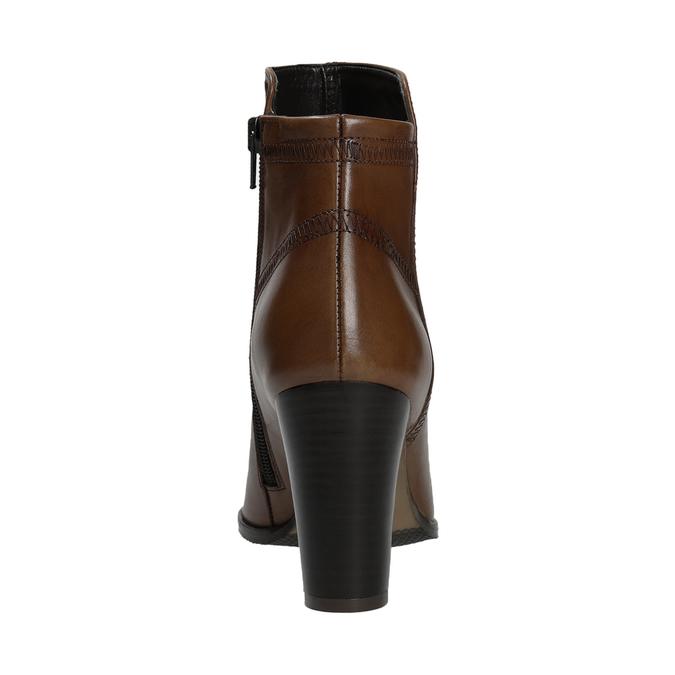 Kožená kotníčková obuv bata, hnědá, 794-4650 - 16