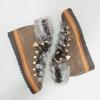 Dámská zimní obuv s kožíškem bata, hnědá, 596-3675 - 18