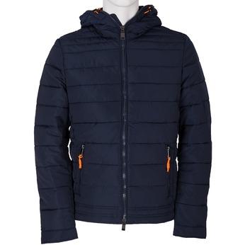 Modrá pánská bunda s kapucí bata, modrá, 979-9130 - 13