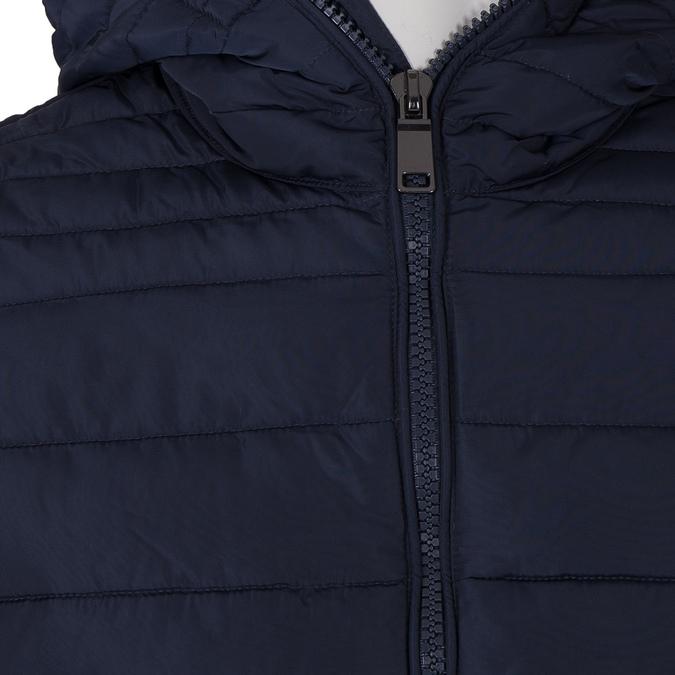Modrá pánská bunda s kapucí bata, modrá, 979-9130 - 16