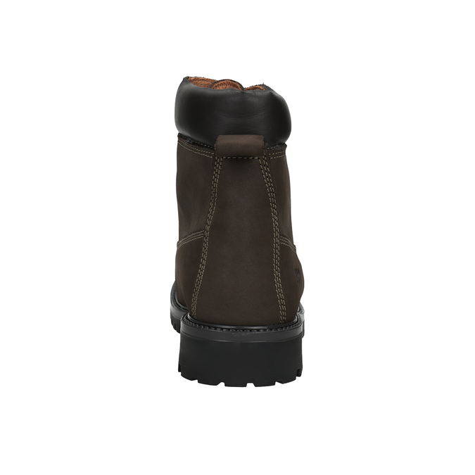 Kožená kotníčková obuv pánská weinbrenner, hnědá, 896-4656 - 16