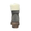 Šedá dámská kožená zimní obuv se zateplením weinbrenner, šedá, 696-2168 - 16