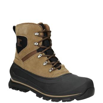 Pánská kožená kotníčková obuv sorel, hnědá, 826-3068 - 13